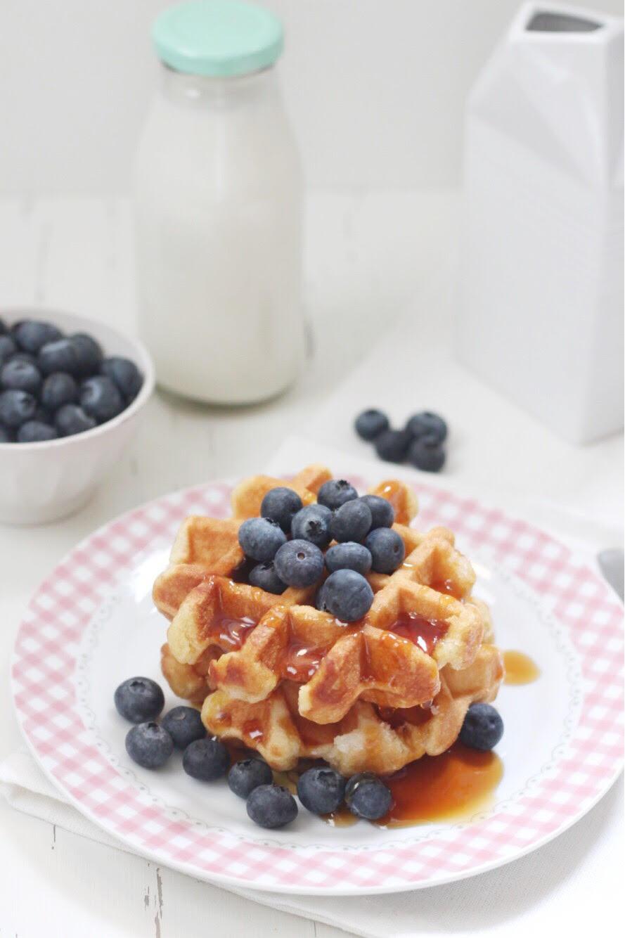 La ricetta del waffle con mirtilli e sciroppo d'acero_01